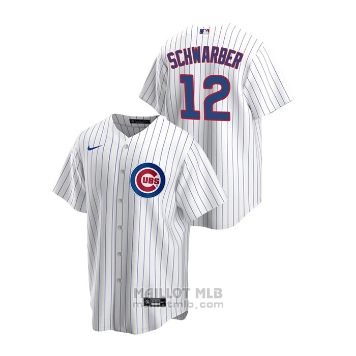 Maillot Baseball Homme Chicago Cubs Kyle Schwarber Replique Primera Blanc