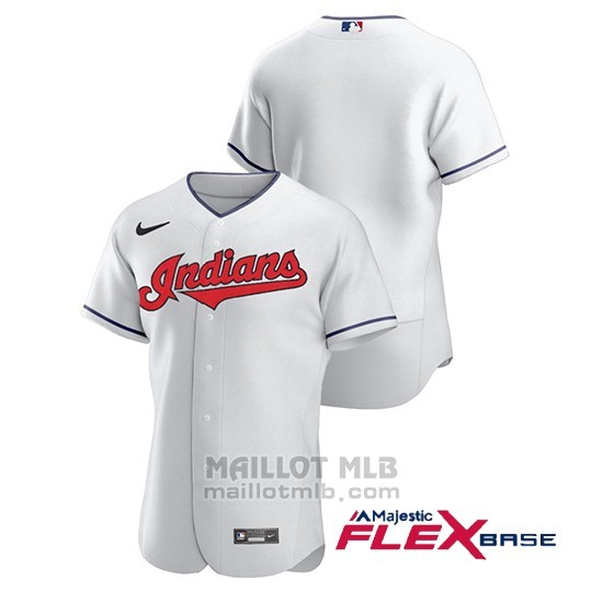 Maillot Baseball Homme Cleveland Indians Authentique Nike Blanc