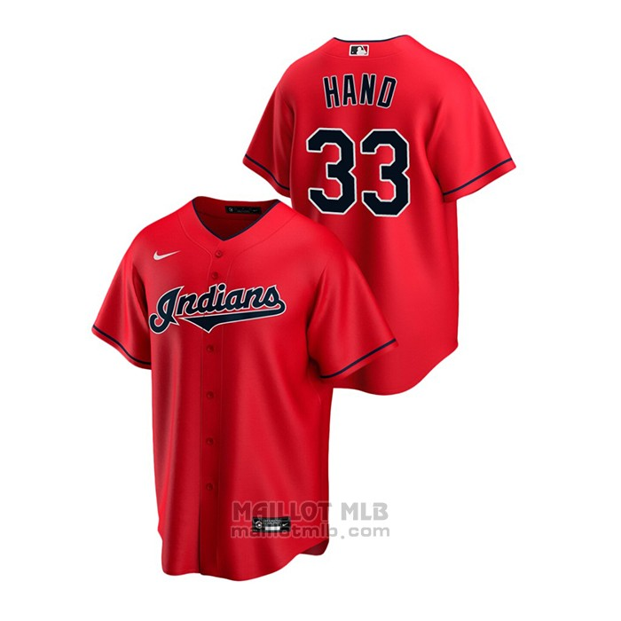Maillot Baseball Homme Cleveland Indians Brad Hand Replique Alterner Rouge