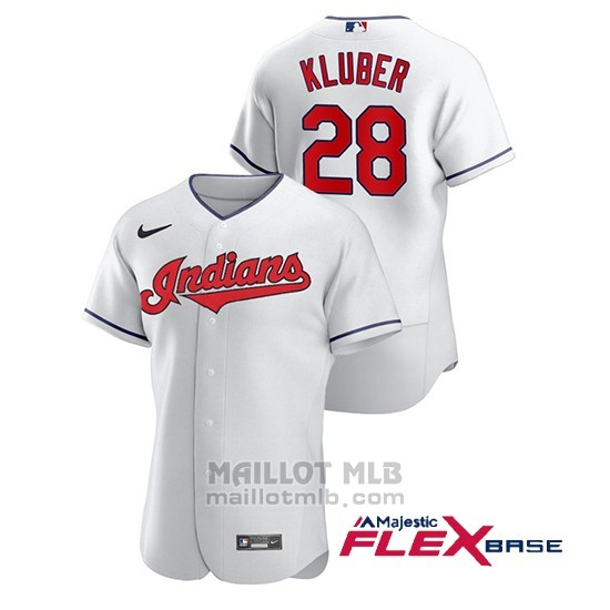 Maillot Baseball Homme Cleveland Indians Corey Kluber Authentique Nike Blanc