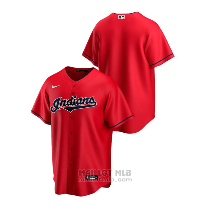 Maillot Baseball Homme Cleveland Indians Replique Alterner Rouge