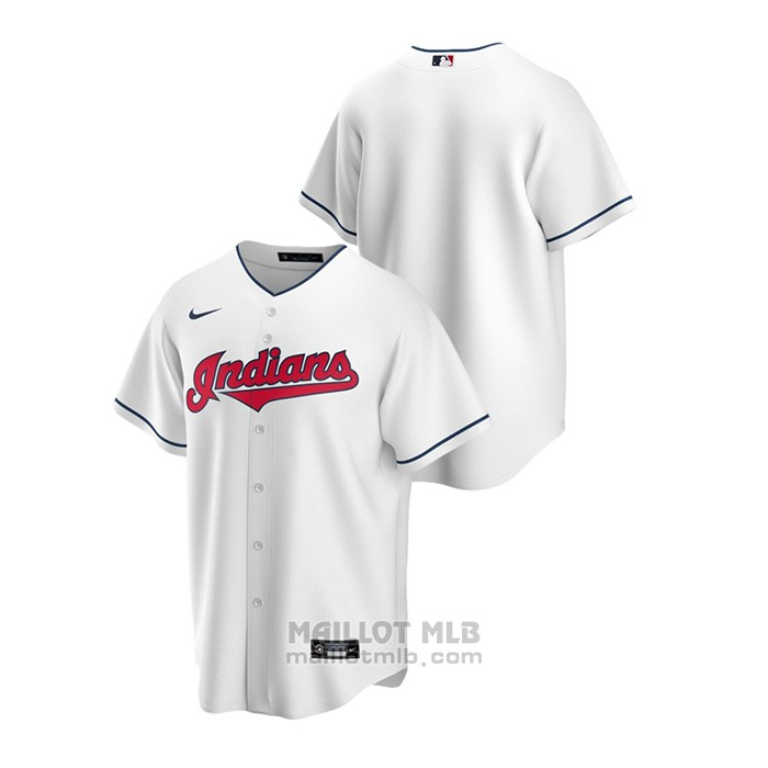 Maillot Baseball Homme Cleveland Indians Replique Primera Blanc