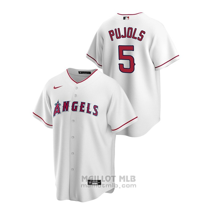 Maillot Baseball Homme Los Angeles Angels Albert Pujols Replique Primera Blanc