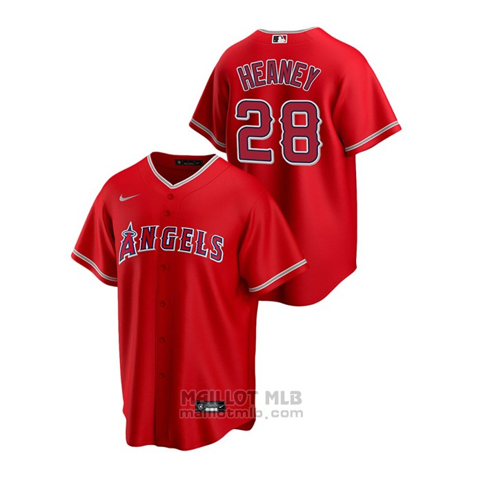 Maillot Baseball Homme Los Angeles Angels Andrew Heaney Replique Alterner Rouge