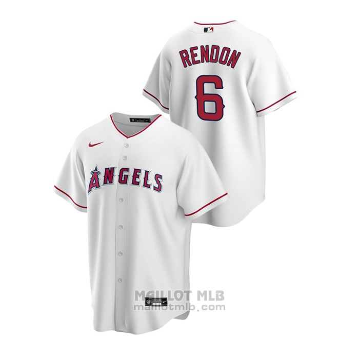 Maillot Baseball Homme Los Angeles Angels Anthony Rendon Replique Primera Blanc