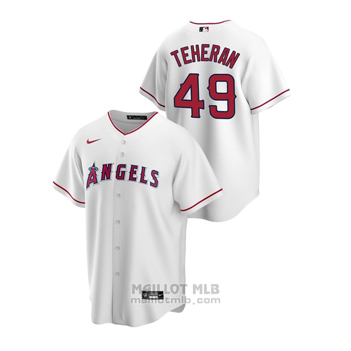 Maillot Baseball Homme Los Angeles Angels Julio Teheran Replique Primera Blanc