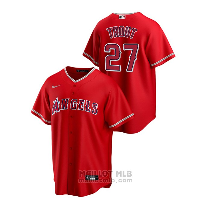 Maillot Baseball Homme Los Angeles Angels Mike Trout Replique Alterner Rouge