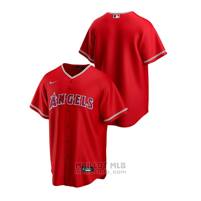 Maillot Baseball Homme Los Angeles Angels Replique Alterner Rouge