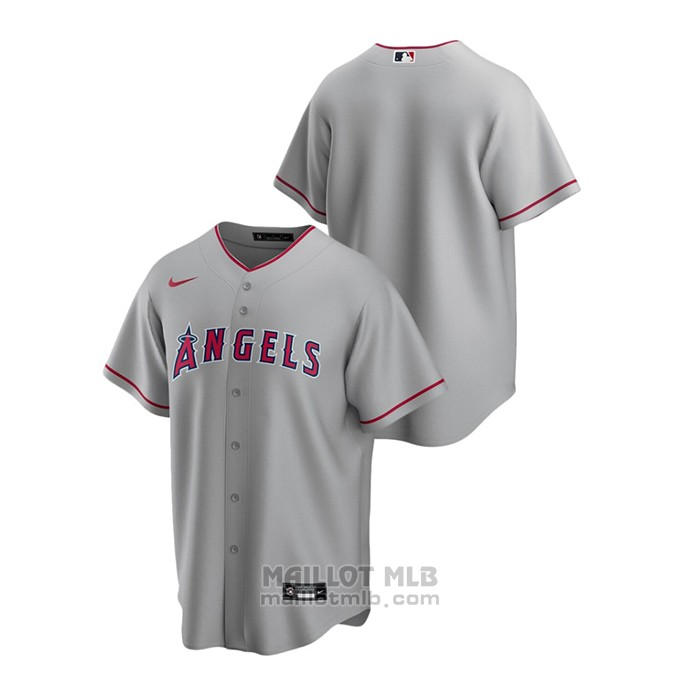 Maillot Baseball Homme Los Angeles Angels Replique Road Gris