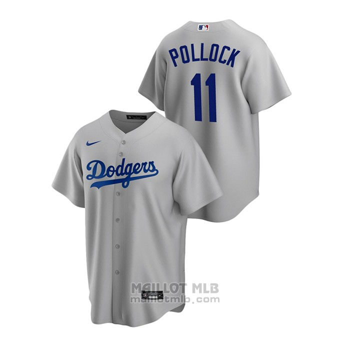 Maillot Baseball Homme Los Angeles Dodgers A.j. Pollock Replique Alterner Gris