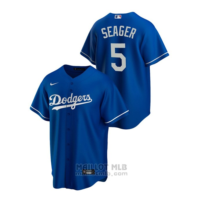 Maillot Baseball Homme Los Angeles Dodgers Corey Seager Replique Alterner Bleu
