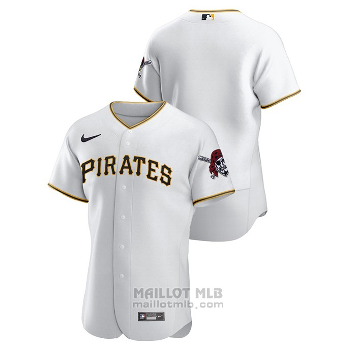 Maillot Baseball Homme Pittsburgh Pirates Authentique Blanc