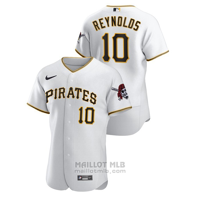 Maillot Baseball Homme Pittsburgh Pirates Bryan Reynolds Authentique Blanc
