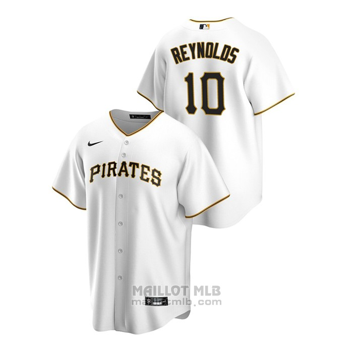 Maillot Baseball Homme Pittsburgh Pirates Bryan Reynolds Replique Primera Blanc