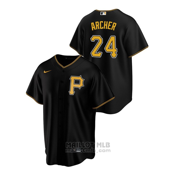 Maillot Baseball Homme Pittsburgh Pirates Chris Archer Replique Alterner Noir