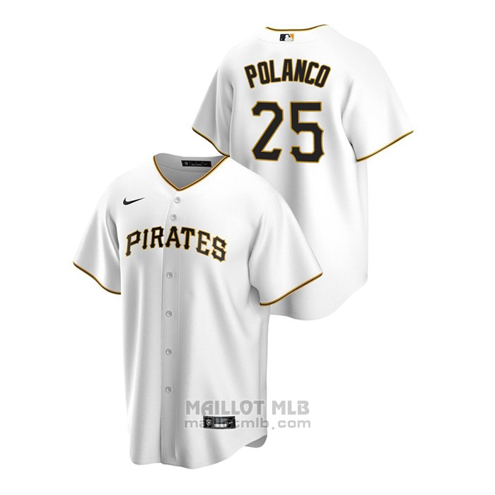 Maillot Baseball Homme Pittsburgh Pirates Gregory Polanco Replique Primera Blanc