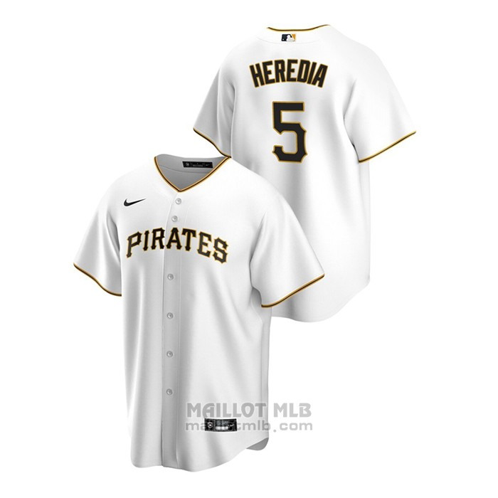 Maillot Baseball Homme Pittsburgh Pirates Guillermo Heredia Replique Primera Blanc