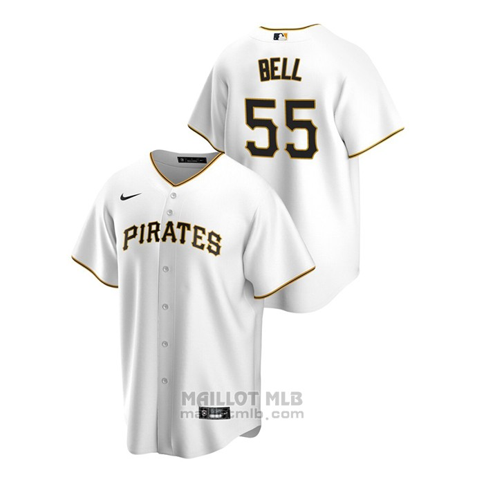 Maillot Baseball Homme Pittsburgh Pirates Josh Bell Replique Primera Blanc