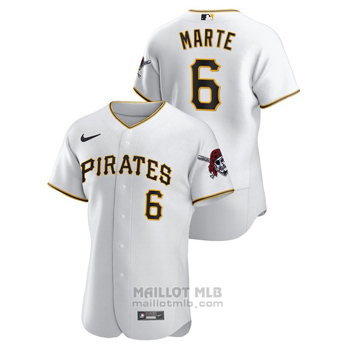 Maillot Baseball Homme Pittsburgh Pirates Starling Marte Authentique Blanc