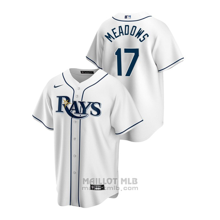 Maillot Baseball Homme Tampa Bay Rays Austin Meadows Replique Primera Blanc