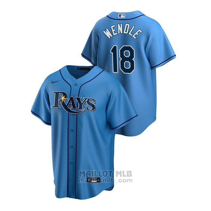 Maillot Baseball Homme Tampa Bay Rays Joey Wendle Replique Alterner Bleu