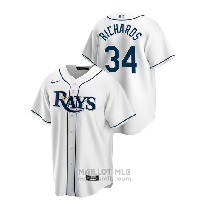 Maillot Baseball Homme Tampa Bay Rays Trevor Richards Replique Primera Blanc