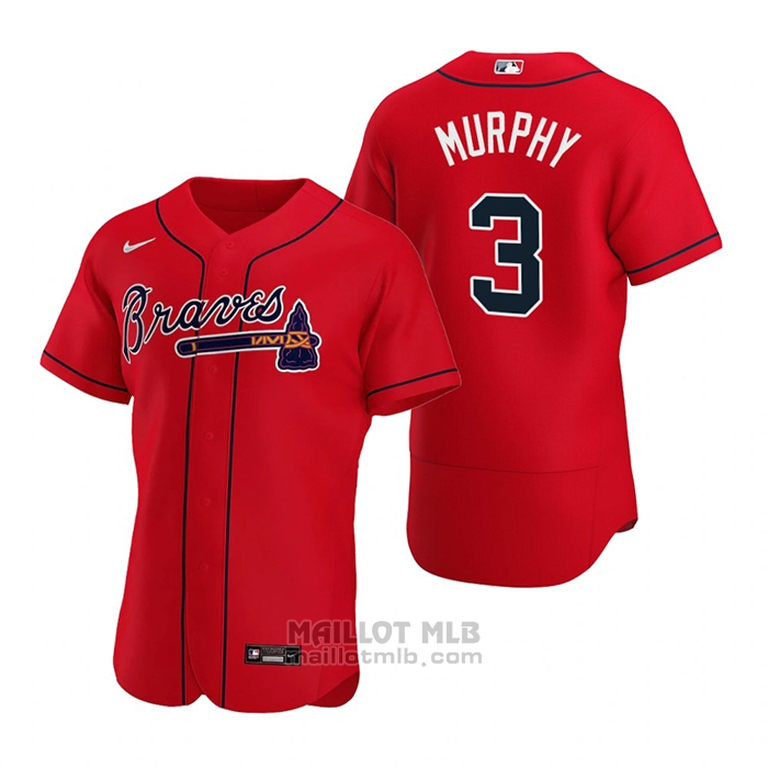 Maillot Baseball Homme Atlanta Braves Dale Murphy Authentique Alterner 2020 Rouge