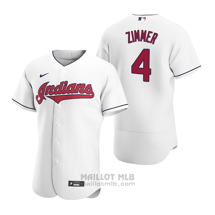 Maillot Baseball Homme Cleveland Indians Bradley Zimmer Authentique 2020 Primera Blanc