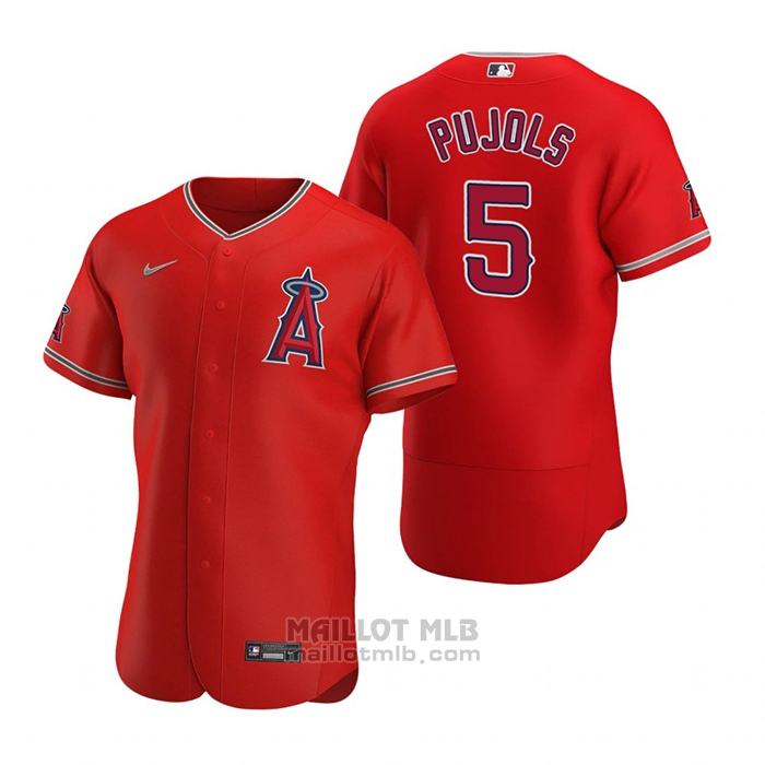 Maillot Baseball Homme Los Angeles Angels Albert Pujols Authentique 2020 Alterner Rouge