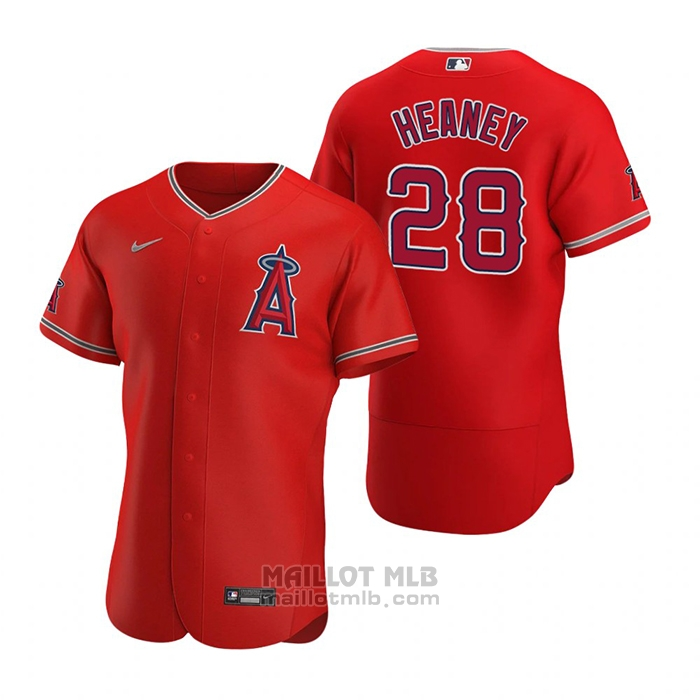 Maillot Baseball Homme Los Angeles Angels Andrew Heaney Authentique 2020 Alterner Rouge