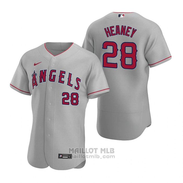 Maillot Baseball Homme Los Angeles Angels Andrew Heaney Authentique 2020 Road Gris