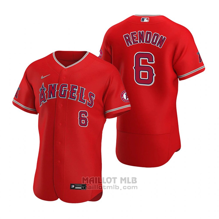 Maillot Baseball Homme Los Angeles Angels Anthony Rendon Authentique Alterner 2020 Rouge
