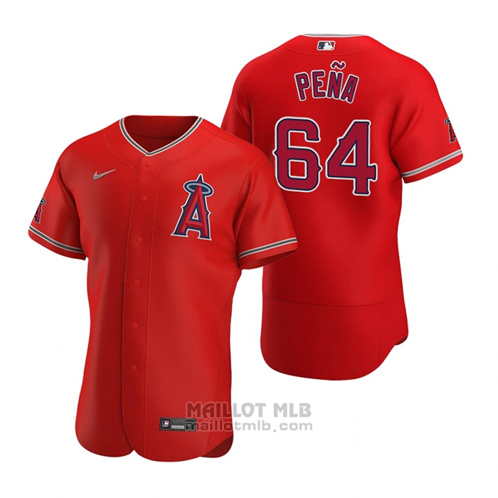 Maillot Baseball Homme Los Angeles Angels Felix Pena Authentique 2020 Alterner Rouge