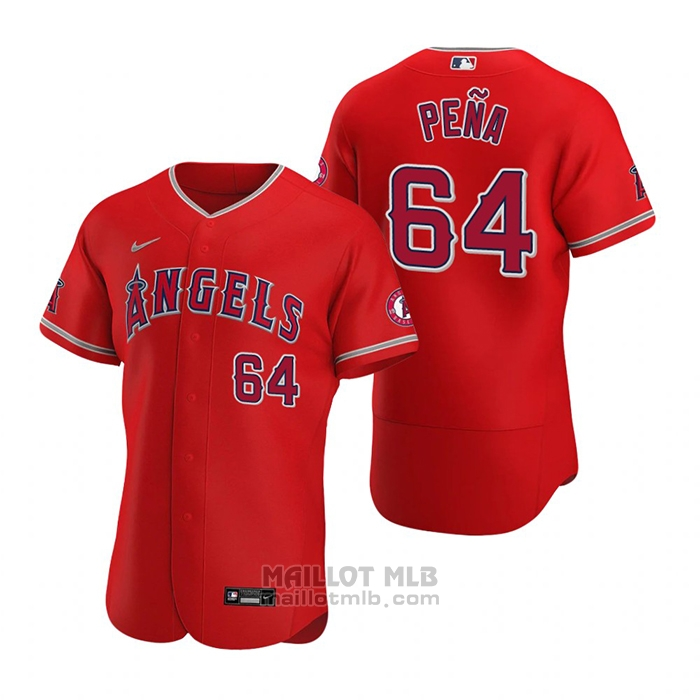 Maillot Baseball Homme Los Angeles Angels Felix Pena Authentique Alterner 2020 Rouge