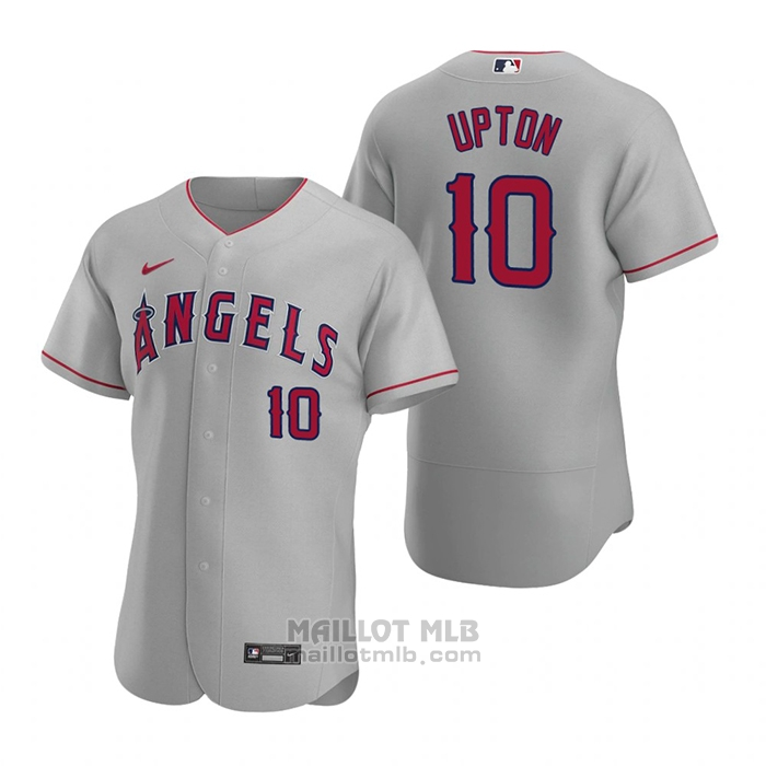 Maillot Baseball Homme Los Angeles Angels Justin Upton Authentique 2020 Road Gris