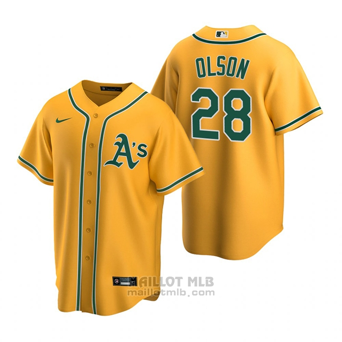 Maillot Baseball Homme Oakland Athletics Matt Olson Replique Alterner Or