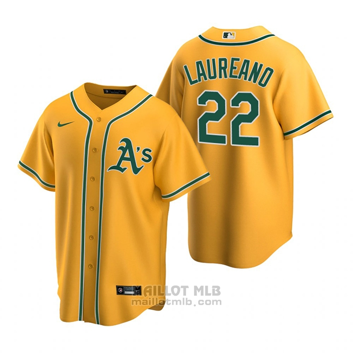 Maillot Baseball Homme Oakland Athletics Ramon Laureano Replique Alterner Or