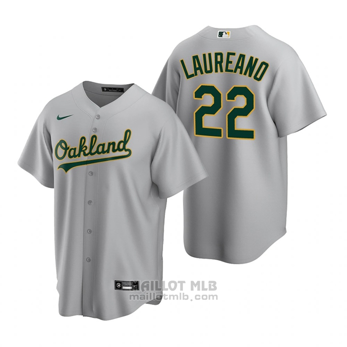 Maillot Baseball Homme Oakland Athletics Ramon Laureano Replique Road Gris