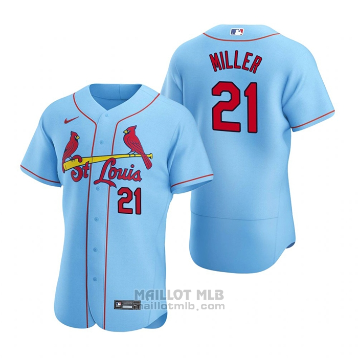 Maillot Baseball Homme St. Louis Cardinals Andrew Miller Authentique 2020 Alterner Bleu