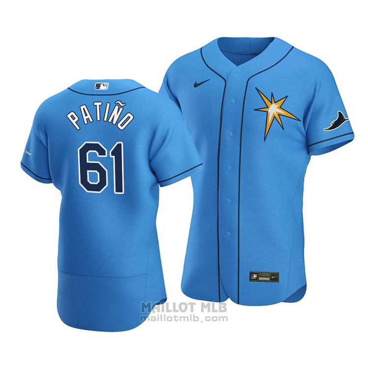 Maillot Baseball Homme Tampa Bay Rays Luis Patino Alterner Authentique Bleu
