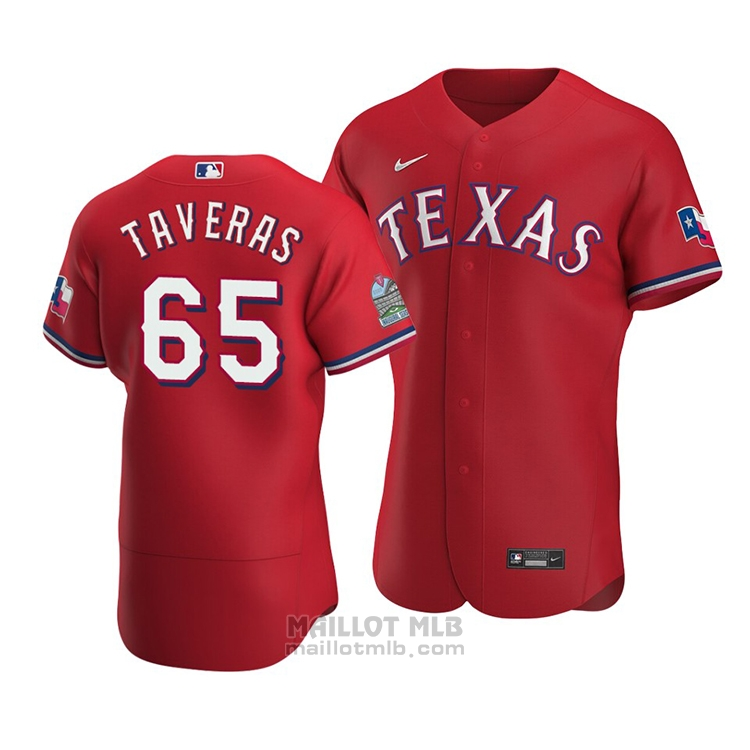 Maillot Baseball Homme Texas Rangers Leody Taveras Authentique Alterner Rouge