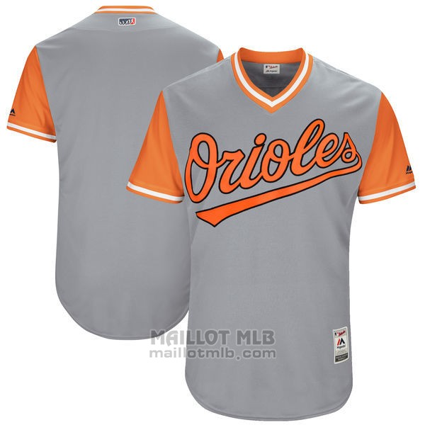 Maillot Baseball Homme Baltimore Orioles Players Weekend 2017 Personnalise Gris