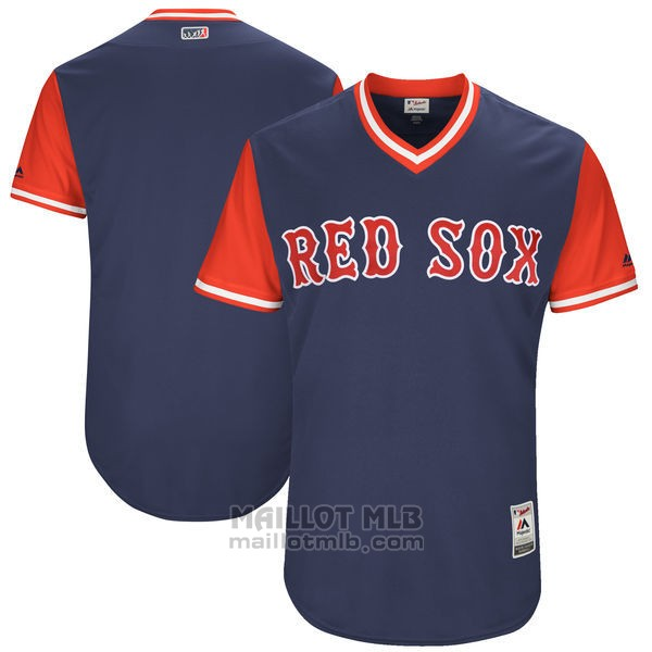 Maillot Baseball Homme Boston Red Sox Players Weekend 2017 Personnalise Bleu