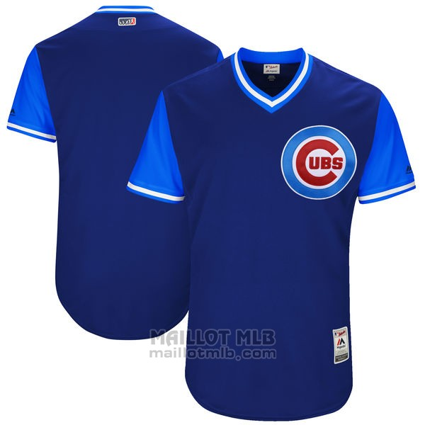 Maillot Baseball Homme Chicago Cubs Players Weekend 2017 Personnalise Bleu