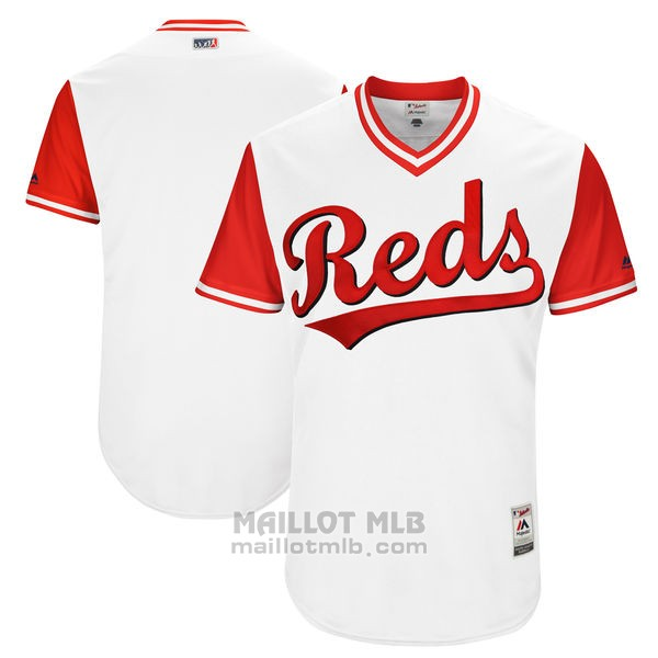 Maillot Baseball Homme Cincinnati Reds Players Weekend 2017 Personnalise Blanc