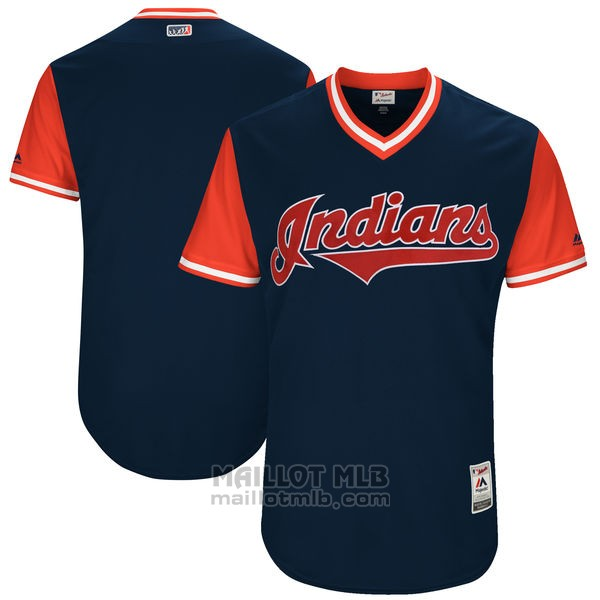 Maillot Baseball Homme Cleveland Indians Players Weekend 2017 Personnalise Bleu
