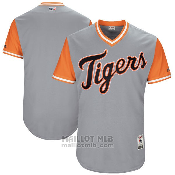 Maillot Baseball Homme Detroit Tigers Players Weekend 2017 Personnalise Gris