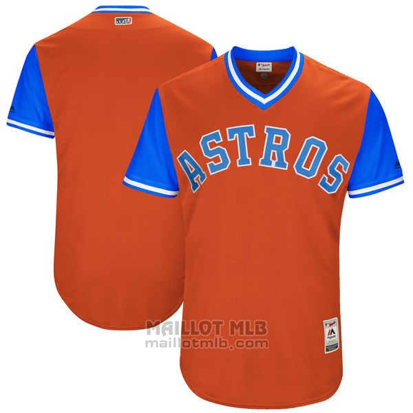 Maillot Baseball Homme Houston Astros Players Weekend 2017 Personnalise Orange