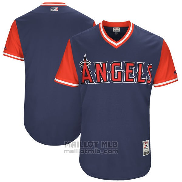 Maillot Baseball Homme Los Angeles Angels Players Weekend 2017 Personnalise Bleu
