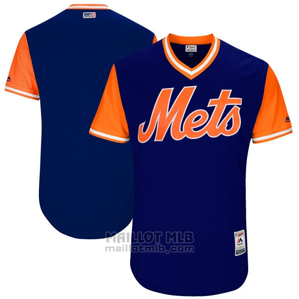Maillot Baseball Homme New York Mets Players Weekend 2017 Personnalise Bleu